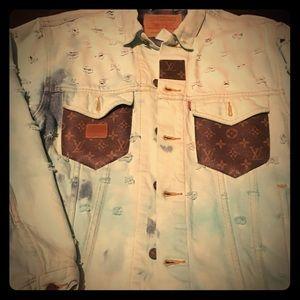 Levi's & FAULTY Denim Jacket with LV pockets